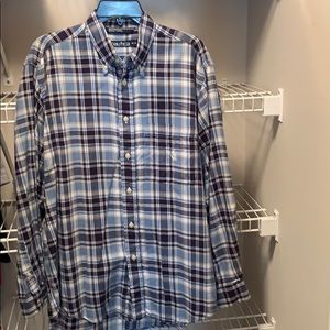 Nautical Men's Plaid Button Down Shirt
